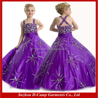 FG-077 Violet glitz little girls long pageant dresses for little girls little girls pageant dresses from china