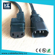 New product power cable c13 to c14 for usa market computer power cords