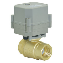 mini 2-way electric/motor power actuator ball valve for water treatment