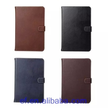 2015 Hot selling real leather ultra thin cover case for ipad mini4,for Apple ipad mini4 smart cover with credit card holder