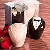 Wedding Gift Adorable Bride and Groom Salt and Pepper Shaker