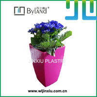 square colourful plastic cemetery vases