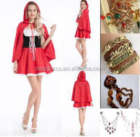 Instyles Sexy Little Red Riding Hood Adult Fancy Cosplay Dress Outfits Carnival Costume