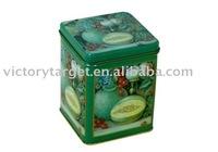 square tin box /square tea tin box/metal tin packaging/food container