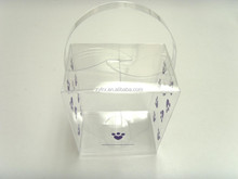Custom color printing transparent clear PET/PVC/PP plastic shopping gift packaging box