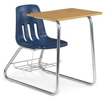 Single Student desk chair for primary kids school furniture