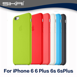 Candy Color Silicone Case For Apple iPhone6S Silicone Case With Logo Back Cover For iPhone6s Shockproof Phone Bags