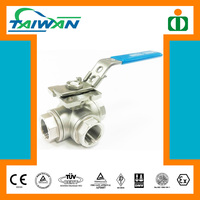 Taiwan Direct Mounting Pad 3 way ball valve dn65, extension stem ball valve, 1/2 pvc ball valve