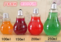 kinds of capacities bulb shape glass bottle for juice