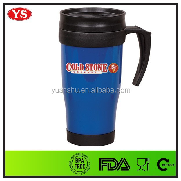 Eco Friendly 14 Oz Plastic Cheap Coffee Mugs With Handle