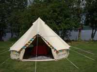 5+person 4meter dia luxury cotton canavs bell tent