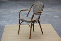 Nice Outdoor bamboo look Chair / Patio aluminum bamboo like chair furniture