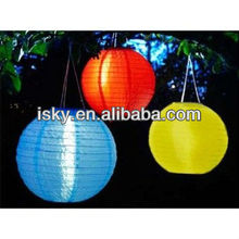 Smart Solar Red/Yellow/Blue Chinese Lantern Decorative Plastic Lantern String Lights Fabric Lantern String Lights Lantern Party
