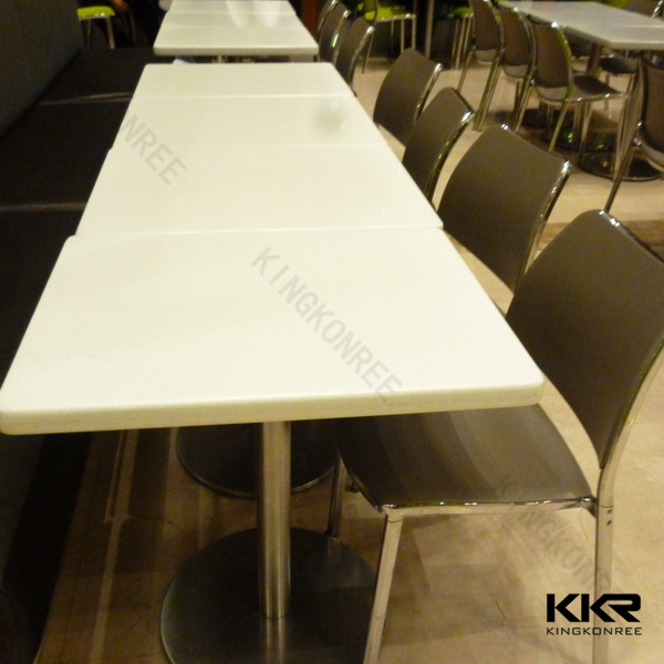 White round marble stone dining table tops