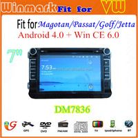 DM7836C Winmark car radio for Android 4.0+Win CE 6.0 VW MAGOTAN/PASSAT/GOLF with 3G Wifi Multi-touch 3D UI
