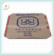 Brown paper cement packaging bag 45kg