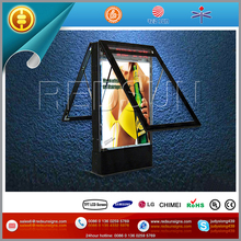 newest rechargeable backlit scrolling lightbox advertising