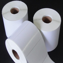 Blank adhesive thermal paper roll with lowest price from China manufacturer