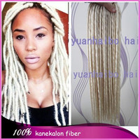 Wholesale Price! 3bags 22inch fold #613 blonde synthetic braiding hair dreadlocks for black women