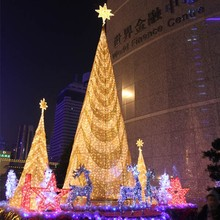 Large outdoor Christmas square lighting decoration