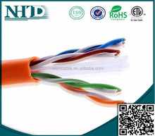 High Quality top cable best price cat6 utp cable 4pr 23awg ROHS,CE,ETL REACH approvals