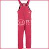 100% cotton flame retardant padded red bib overalls