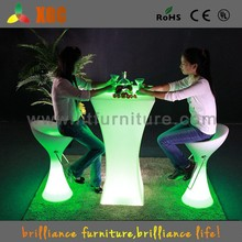 GF312- cheap led light club cocktail tables and chairs, LED Light Up Bar Table,LED light Table