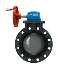 CHEMICAL RESISTANCE PP+C-PVC BUTTERFLY VALVE(GEAR TYPE)