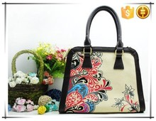 Special design folk style Vintage fashion ladies tote bag