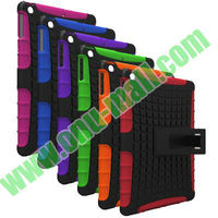 Newest Arrival with Holder Shockproof Hybrid Cover for iPad 5