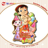 2015 wholesale Hot sell birthday party decorative ,wall stickers,home stickers kids birthday party supplies