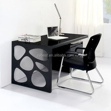 home furniture black lacquer writing desk