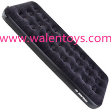 chinese supplier customize inflatable flocked air mattress/inflatable air bed mattress
