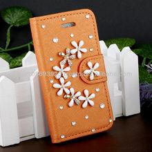 Handmake Diamond Leather Phone case for Iphone 4/4s
