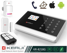 KR-8218G TOP!!Russian/Spanish/French 433mhz wireless home pstn&gsm smart automation app android alarm system