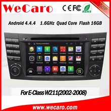WECARO 7 Inch Double Din Touch Screen Dvd Gps Pure Android 4.4 Car Radio For Benz mercedes W211 2002 - 2008