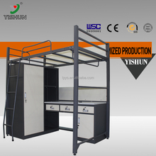 Colloge SCHOOL FURNITURE Dormitory Student Double Deck Bed/With Two Drawer Metal Bunk Bed/Steel Bunk