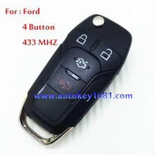 MS car key 4 button remote control key 433mhz for ford focus mendeo with uncut keys