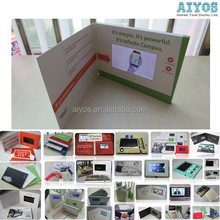 Hot Selling 9 years top factory video greeting card