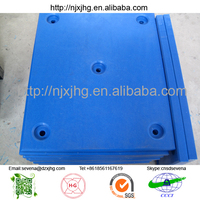 uhmwpe plastic marine dock fender/ PE-HD marine fender wear pad/ dock and boat protection pad