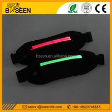 2015 creative products led reflective running waist belt usb