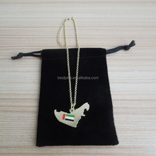 metal gold anklet chian for UAE 44th national day, UAE map shape charm anklet necklace, custom high heel shoe decorative chains