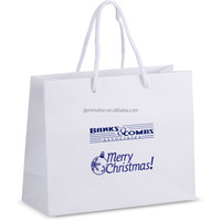 custom printed standard size cheap paper shopping bags with spot UV logo