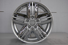 KM042 13*6.0j PCD= 4*112 car alloy wheel rims with red lip