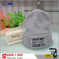 Custom fashion 2014 hot new products knitted led beanies hats