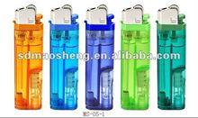 8.2 cm LED flint gas lighter with OEM