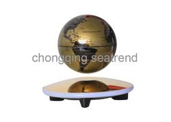 Glod supplier magnetic material hot Exhibition magnet global advertising globe