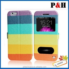 Coloured Drawing Pattern Leather Full Body Case for Apple iPhone 6
