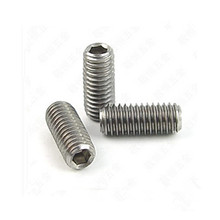 DIN913 titanium screw hexagon socket set screws with flat point titanium bolt