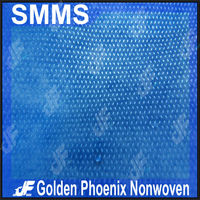 Hospital disposable SMS non woven fabric material for scrubs clothing